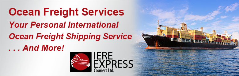 International ocean freight courier service